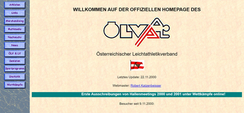 1. Version der ÖLV Website