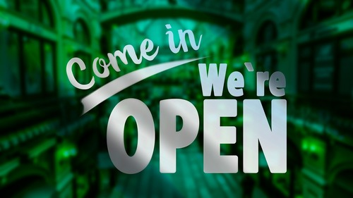 Come in - We are open (C) Pixabay