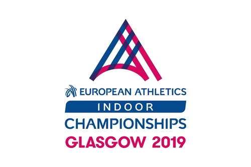 Logo der Hallen-EM in Glasgow 2019 (C) European Athletics