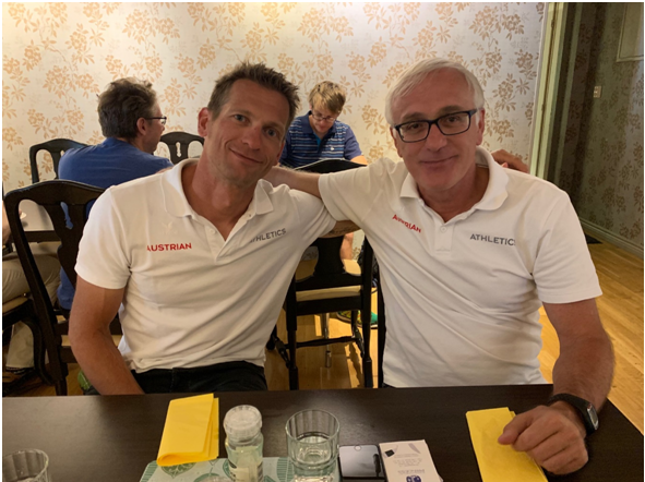 ÖLV-Nationaltrainer Philipp Unfried mit Sportkoordinator Hannes Gruber