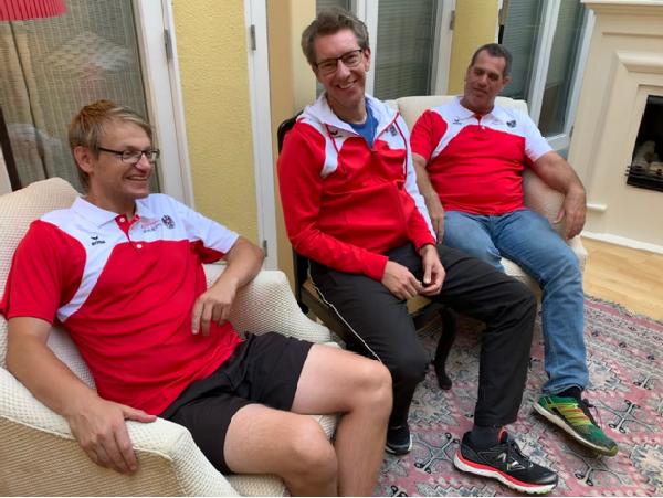 Erfolgreiche Heimtrainer: Rainer Breuer, Christian Jäger und Robert Ruess