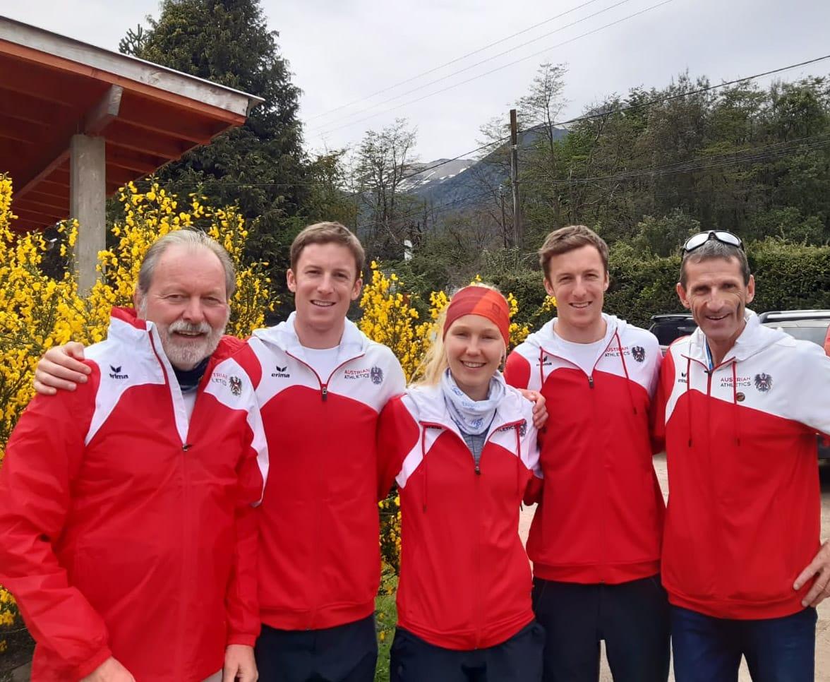 Team Austria bei der Berglauf WM in Villa la Angostura/ARG