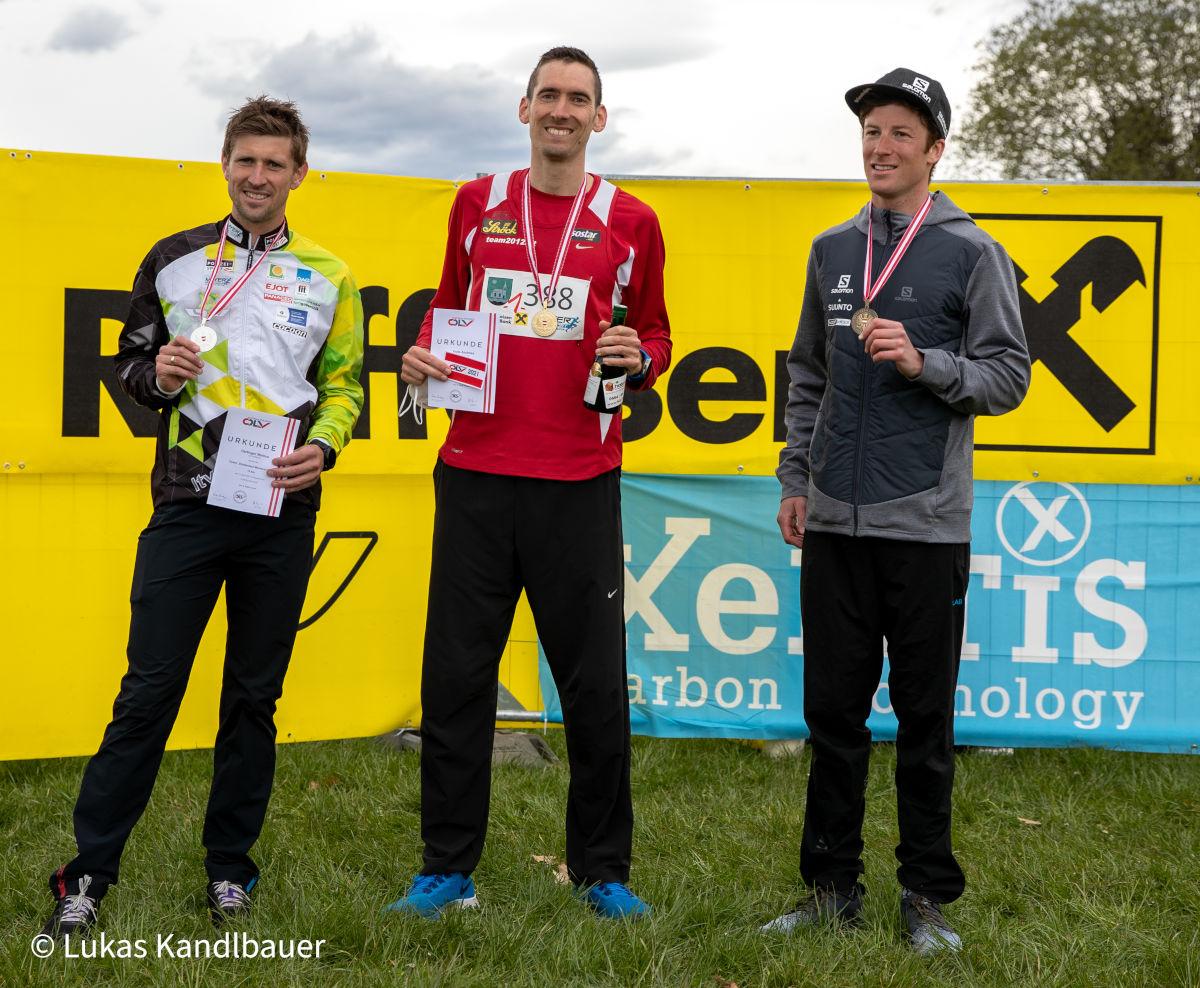 ÖM 10km Straße Mooskirchen - Männer Podium (c) Lukas Kandlbauer