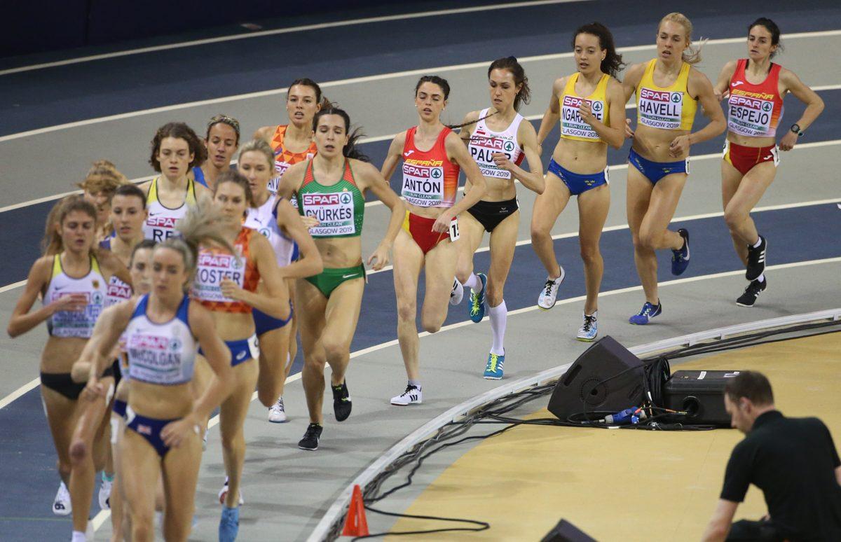 Nada Ina Pauer beim 3000m Endlauf in Glasgow (C) GEPA Pictures